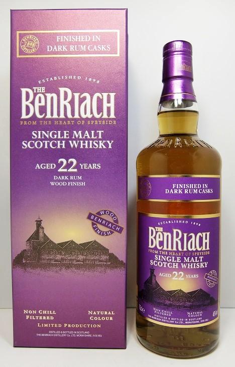 ベンリアックダークラム カスク フィニッシュ 22年BenRiach Dark Rum Casks Finish 22 Years