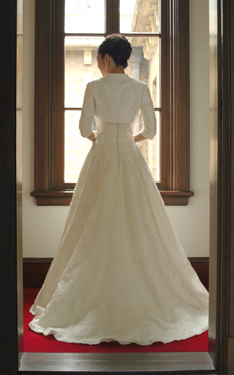 婚纱婚纱订货礼服(A线礼服)婚礼/海外婚礼/新娘/白[D58]