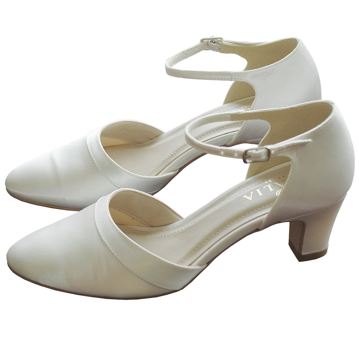 ブライダルシューズ ストラップ付き 6cm ウェディングシューズ パンプス ウェディング 花嫁 靴 白(ウエディング ブライダル)[E37]【送料無料】【送料無料】