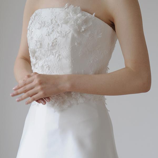 身頃が華やかなフレアラインのドレス[S160]【送料無料】