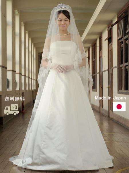【ポイント2倍】ウェディングベール ロング リバーレース(ウエディング ウェディング ウエディングベール ブライダル ロングベール ウェディングドレス)[V61]【送料無料】