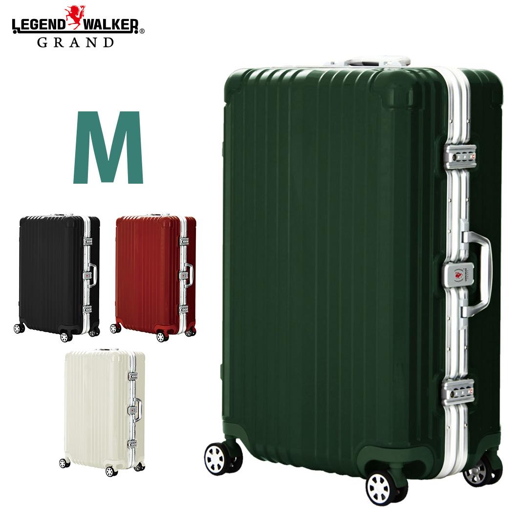 スーツケース ダブルキャスター 8輪 M サイズ 5日 6日 7日 ワイドフレーム OKOBAN キャリーケース キャリーバッグ LEGEND WALKER GRAND 高級 レジェンドウォーカー グラン 『5601-64』