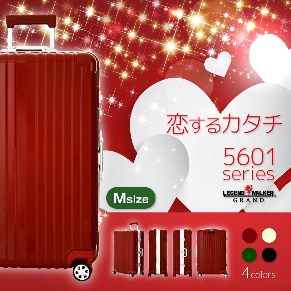スーツケース ダブルキャスター 8輪 M サイズ 5日 6日 7日 ワイドフレーム OKOBAN キャリーケース キャリーバッグ LEGEND WALKER GRAND 高級 レジェンドウォーカー グラン 『W-5601-64』