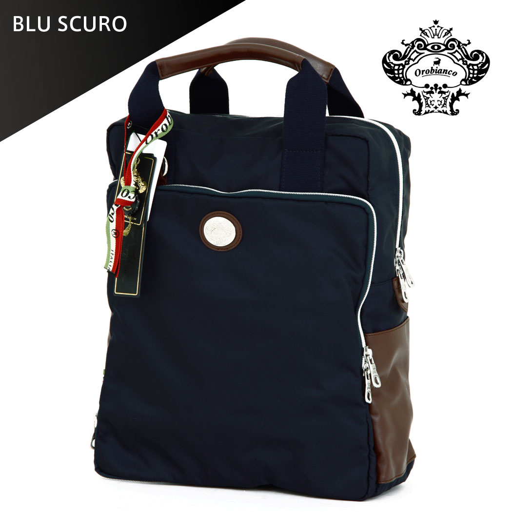 """Orobianco OROBIANCO Briefcase bag business shoulder bag backpack 3 way A4 size 1 care room mens ladies leather nylon NEW HERO-C 01, """"orobianco-90013"""""""