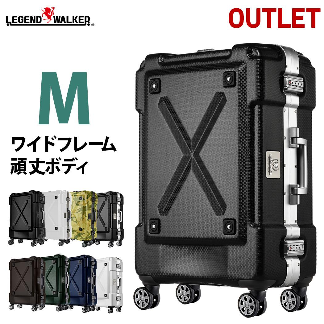 アウトレット スーツケース M サイズ 超軽量 PC100%素材 フレーム キャリーケース キャリーバッグ キャリーバック 旅行用かばん 中型 5日 6日 7日 無料受託手荷物 158cm 以内 アウトドア 『B-6302-62』