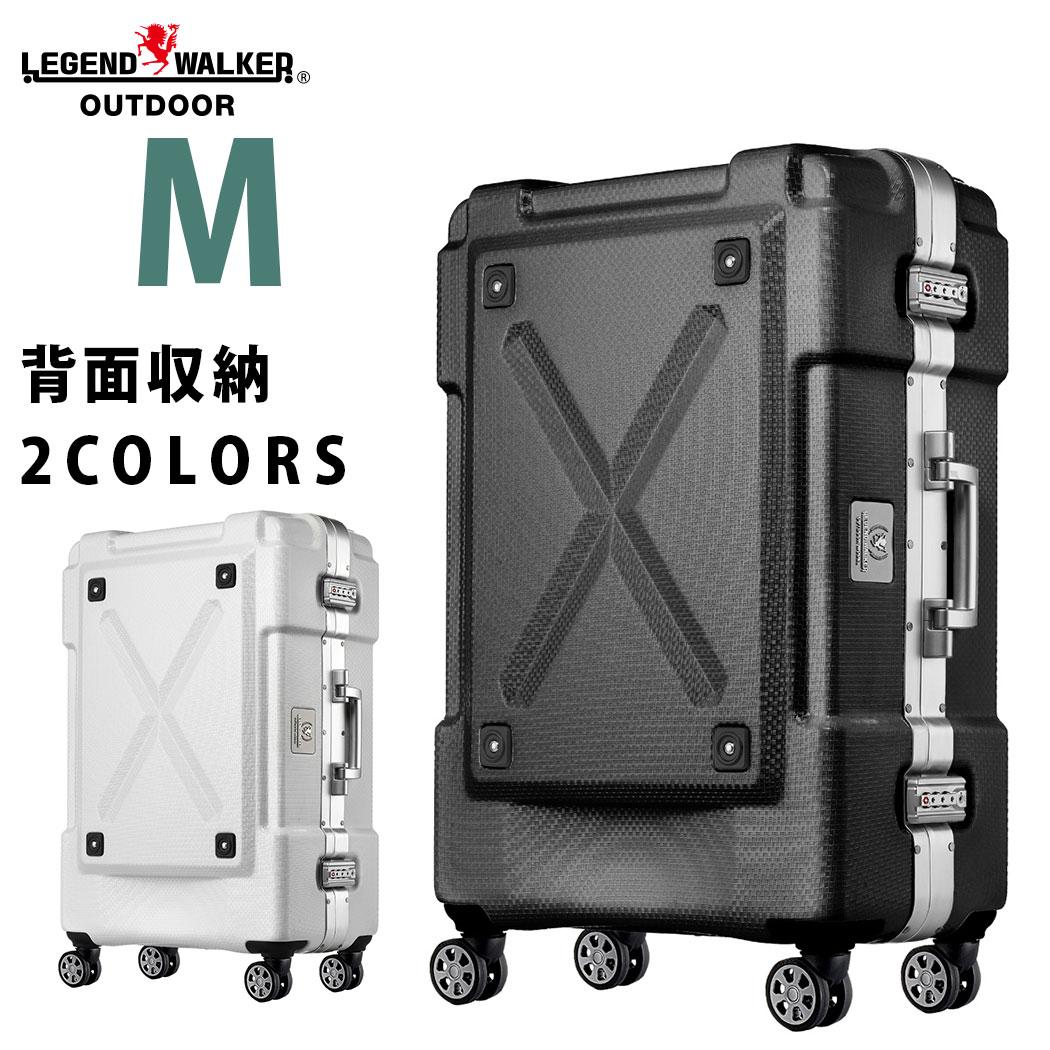 キャリーケース M サイズ PC100% フレーム スーツケース キャリーバッグ キャリーバック 旅行用かばん 中型 5日 6日 7日 無料受託手荷物 158cm 以内 アウトドア シボ加工 LEGEND WALKER レジェンドウォーカー 『W-6303-62』
