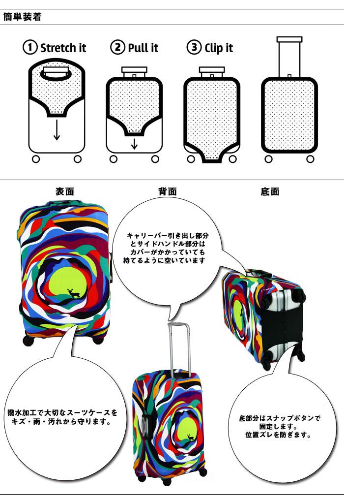 """キャリーバッグカバーラゲッジカバースーツケースカバー保护カバーラゲッジカバーラゲッジジャケット""""LOQI-COVER L大小"""""""