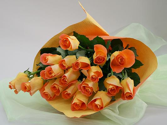 Image result for orange rose gift