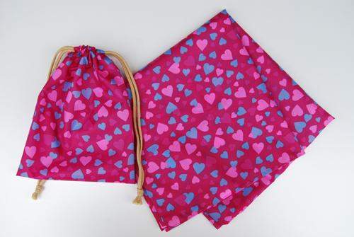 セール特別価格!!新商品 【防水風呂敷巾着袋セット】京都marimariオリジナル  (100×100cm) 日本製 雨の日に大活躍!!鞄を雨から守ります。急な雨にレインコートの代わりに。ピクニックの敷物にも便利!メール便送料無料!代引きの場合は有料!