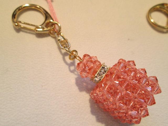 Swarovski perfume bottle key chain gift glitter rondel souvenir women 95af2d3135