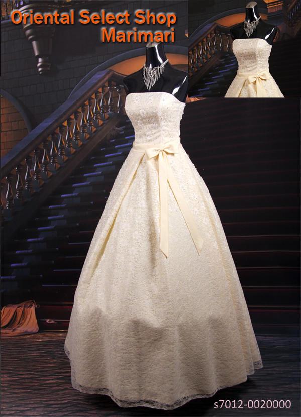 ウェディングドレス 結婚式 ブライダル 二次会パーティー 披露宴 挙式 花嫁シンプル☆総レースウェディングドレスベルラインプリンセスラインパニエ付き