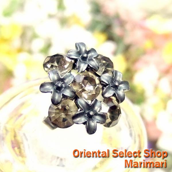 68031d779 Costume rings bouquet Crystal Swarovski metal black / clear black free SIZE  ...