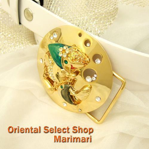 オシャレな魚ゴールドバンダナに蝶ネクタイショッピングお魚さんベルトバックルおまけベルト付き