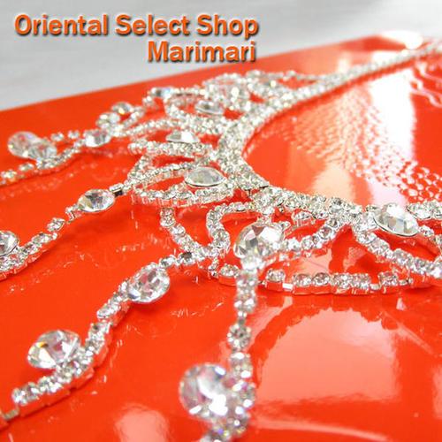 ネックレス ブライダル仕様波打つフリンジネックレス&ピアスsetALL水晶スワロ Wダイア チェーン フリンジタイプシルバー×クリスタル色