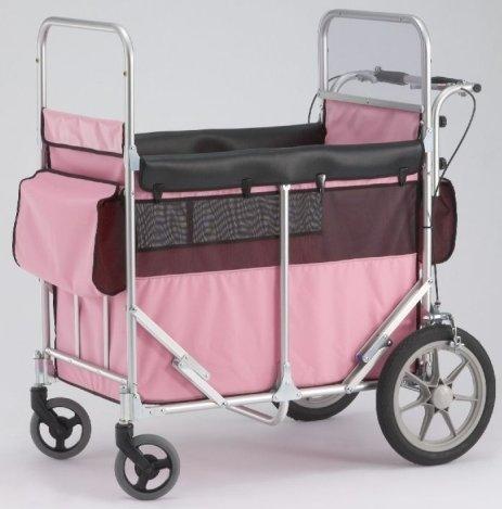 ☆受注生産品☆送料無料多人数用大型ベビーカートミニバス4~6人乗りタイプ(60kgまで)ピンク