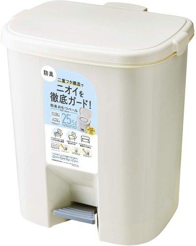 倉庫 関東~関西送料無料 品質保証 T-WORLD 防臭おむつペール25型 ペダル式25.5L レジ袋が使用できて経済的 日本製