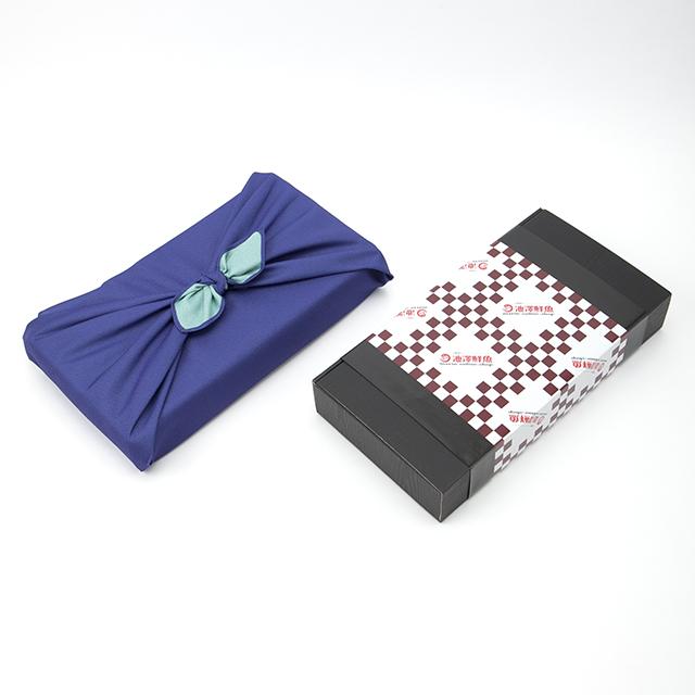 風呂敷・高級ギフトBOX  紺/水色(のし・メッセージカード無料対応)お中元・お歳暮・父の日・敬老の日・贈り物・ギフト