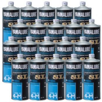 【大幅値下】ヤマハ 4サイクル(ガソリン)  マリンオイル SL 10W-30 1L  スチール缶 1ケース(20本)※西濃運輸での発送になります。※日時指定不可※沖縄、離島は特別送料が掛かります。