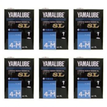 YAMAHA ヤマハ 4サイクル(ガソリン)  マリンオイル SL 10W-30  4L スチール缶 1ケース(6本)※沖縄、離島は特別送料が掛かります。