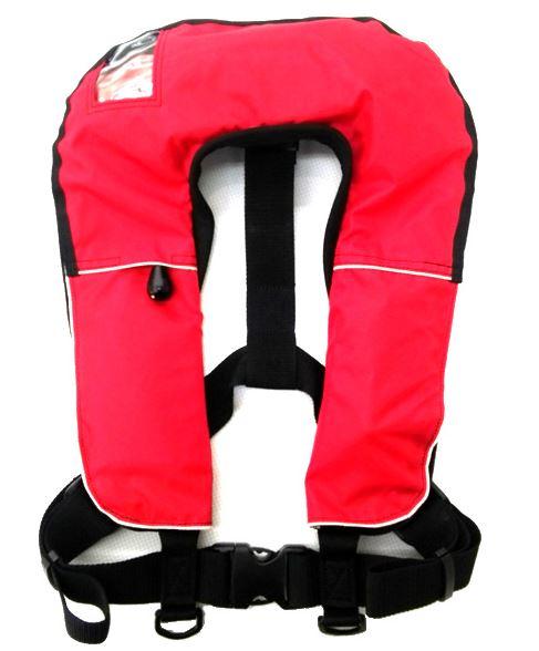救命胴衣(ライフジャケットFN-80・自動膨張機能付き(新基準対応品)レッド