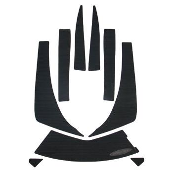 HYDRO-TURF.デッキマットキット(テープ付き)KAW ULTRA250/260/300 9PCSモールデッドダイヤ ブラック※代金引換・後払い決済 不可※キャンセル不可※受注生産の為、納期に1ヶ月