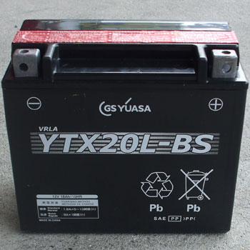 GS YUASA メンテナンスフリーバッテリー YTX20L-BS