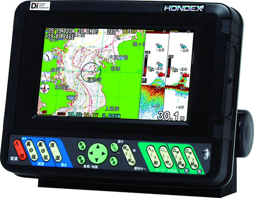 【HONDEX】7型ワイドカラー液晶プロッターデジタル魚探HE-701-GP-Di(DGPS)※メーカー取り寄せ商品※納期が約5日掛かります※返品・キャンセル不可