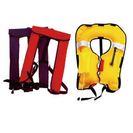 救命胴衣(ライフジャケット)NS-3000・手動膨張式レッド(新基準適合品)