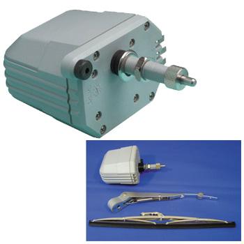 AFI 防水ワイパーモーターセット AFI-500軸長63mm 拭角80度 3点セット 12V