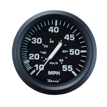 スピードメーター 80MPH12V ブラック