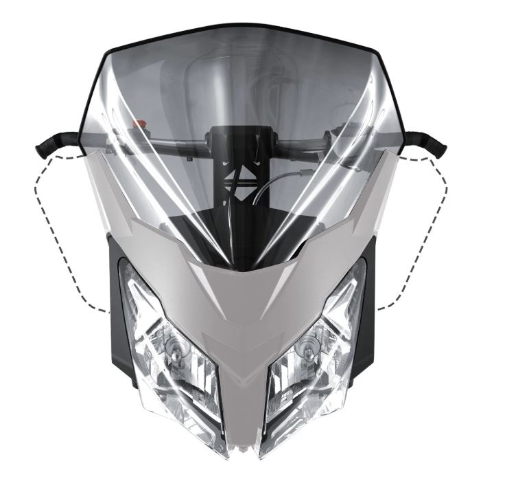 2019 ski-doo/スキードゥHIGH WINDSHIELDREV-XM, REV-XS