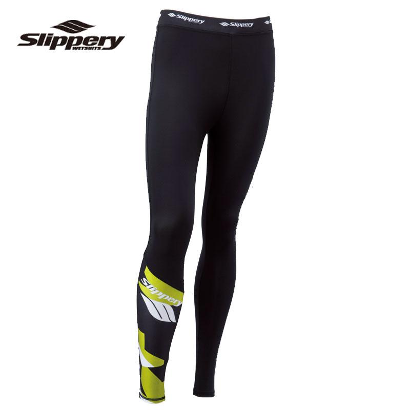 SLIPPERY/スリッパリーメンズレギンス 緑 / 白い