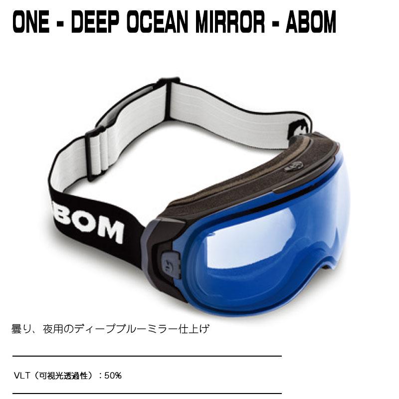 ABOMONE-DEEP OCEAN MIRRORワン - ディープオーシャンミラーエーボム ゴーグル