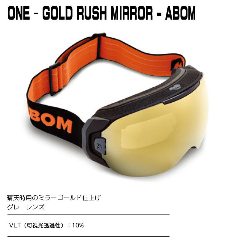 ABOMONE-GOLD RUSH MIRRORエーボム ゴーグル ワンミラーゴールド仕上げ