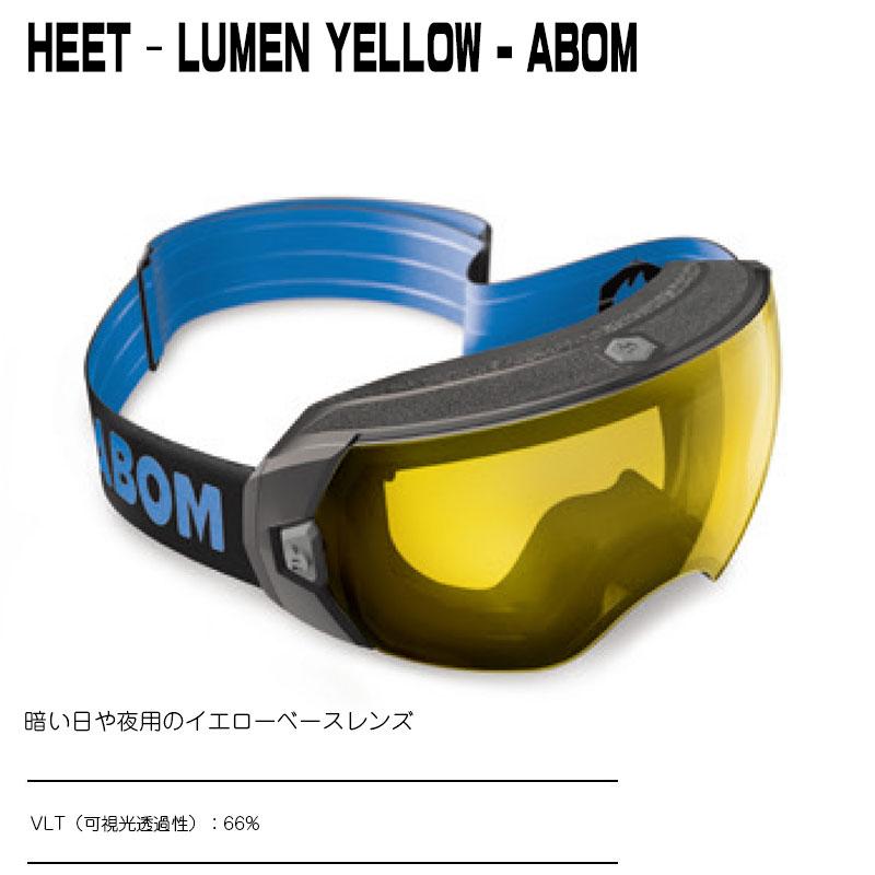 ABOM HEET-LUMEN YELLOWヒート - ルーメンイエローエーボム ゴーグル