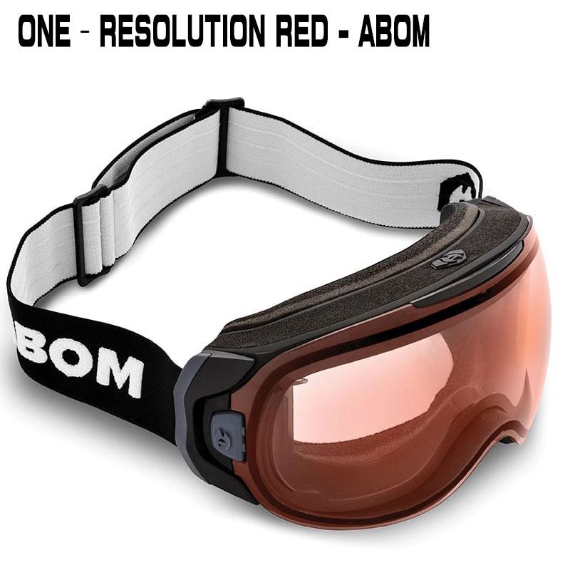 ABOM ONE-RESOLUTION REDワン - レゾリューションレッドエーボム ゴーグル