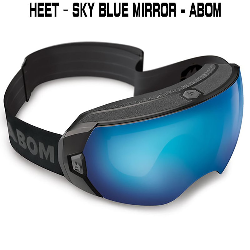 ABOM HEET-SKY BLUE MIRRORヒート - スカイブルーミラーエーボム  ゴーグル