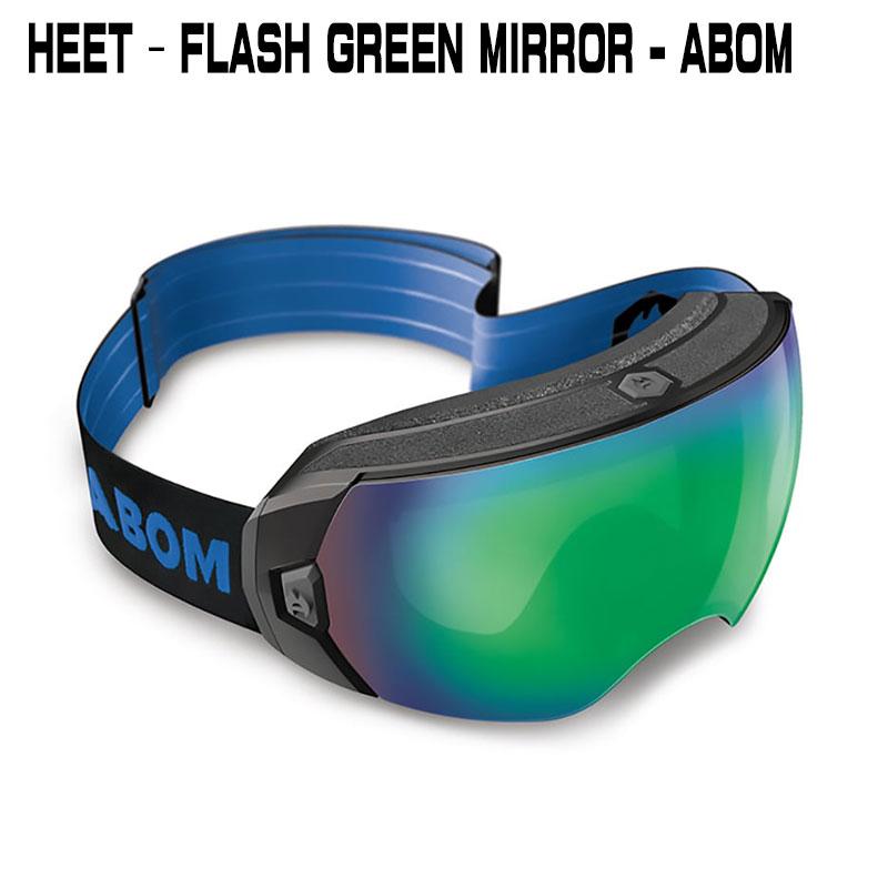 ABOM HEET-FLASH GREEN MIRRORヒート-フラッシュグリーンミラーエーボム  ゴーグル