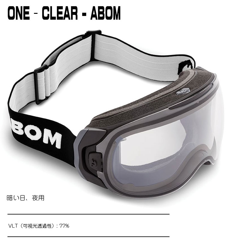 ABOM ONE-CLEAR ワン - クリアエーボム  ゴーグル