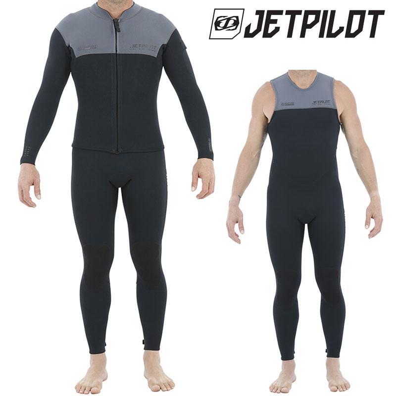 JETPILOT/ジェットパイロット 2019モデル VENTURE JOHN AND JACKET ベンチャー スーツジャケット&ロングジョン 2点セット チャコール