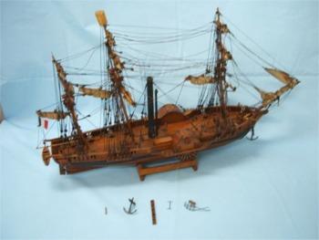【訳あり】帆船模型「SPHINX」