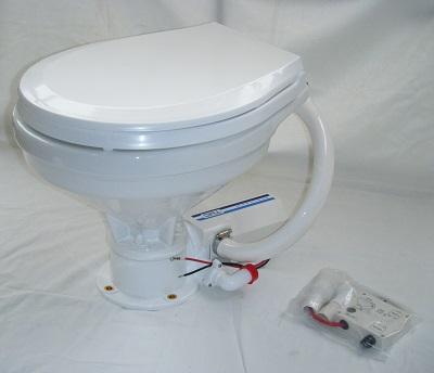 TMC電動マリントイレ12Vラージボールタイプ・ワイド家庭用サイズ[スロークローズ]