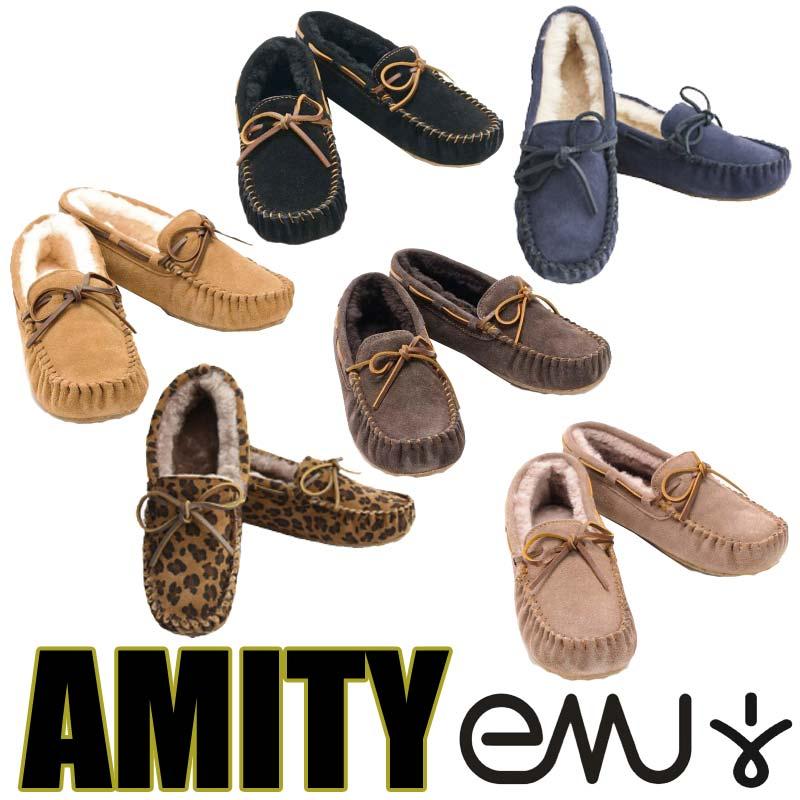 【ポイント最大36倍6/11(木)01:59まで】 EMU エミュー AMITY アミティ モカシン スエード シープスキン シューズ