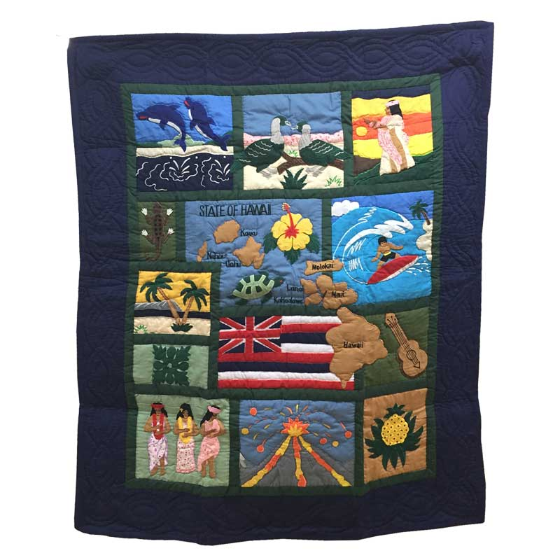 Hawaiian quilt ハワイアンキルトタペストリー ドリームオブハワイ 123×103cm/インテリア 壁掛け マット 【あす楽】【あす楽_土曜営業】【あす楽_日曜営業】【あす楽_年中無休】【コンビニ受取対応商品】