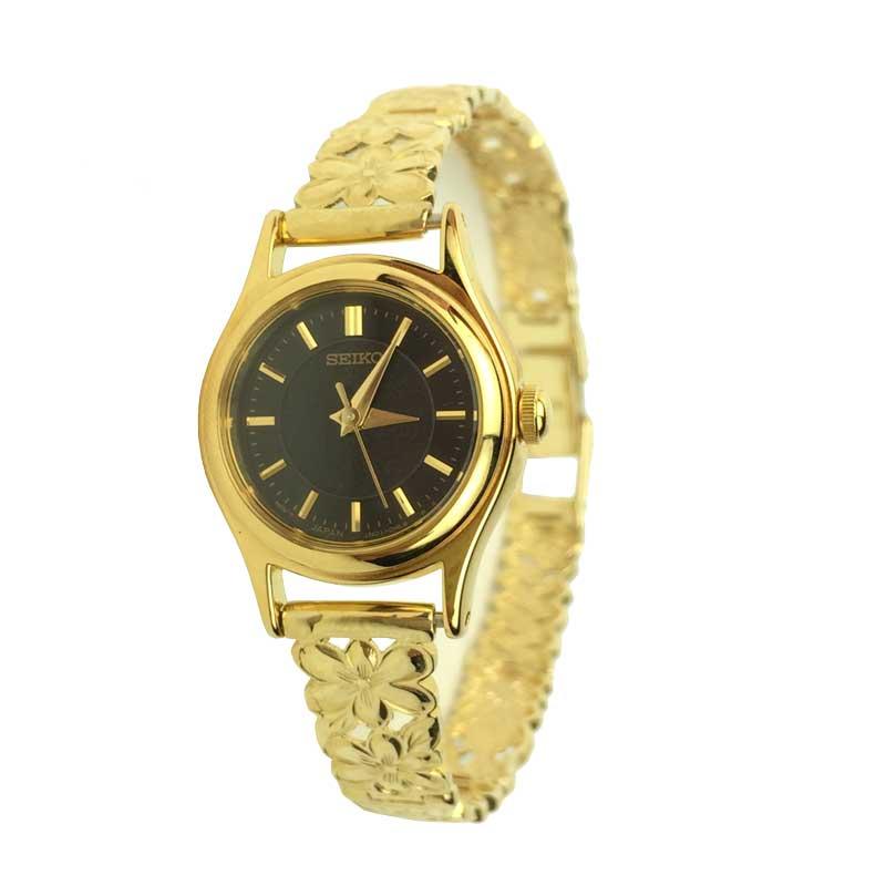ハワイアンジュエリー ゴールド時計K14ゴールドブレスウォッチ ハワイアンフラワー