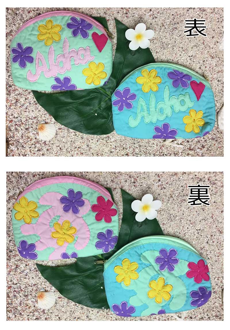 夏威夷人被褥Hawaiian Quilt夏威夷衬衫门/化妆袋小袋子夏威夷人杂货