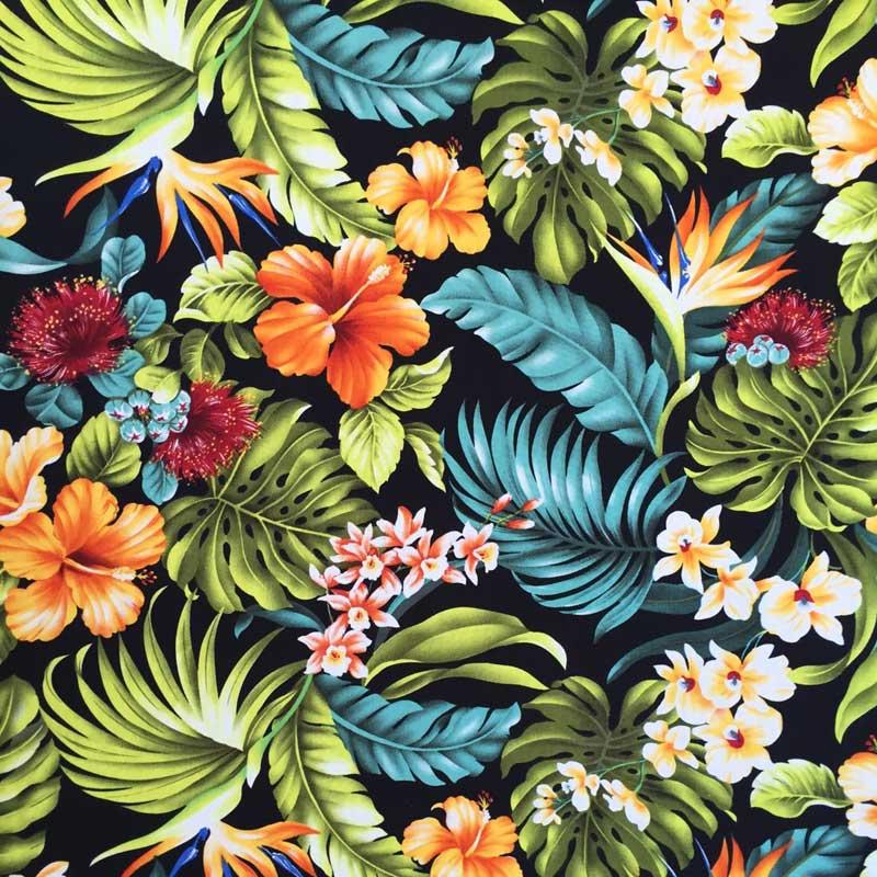 hawaiian fabrics tropical hawaiian flower