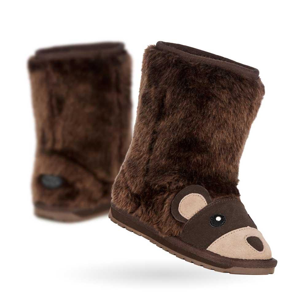 9d484968253 Mouton boots for the sheepskin boots / child for EMU AUSTRALIA KIDS LITTLE  CREATURES L.C Brown Bear K11104 エミューブラウンベアーキッズ