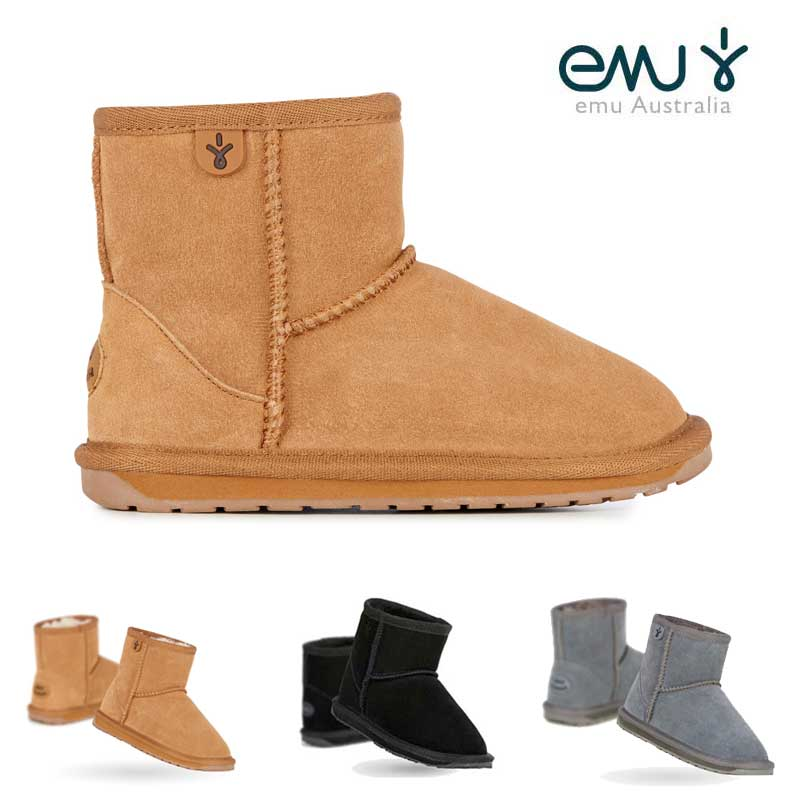 a6d3bfec993e6 The wallaby mini of EMU Australia made with premium suede and soft merino  wool is a boot for the child of the warmth so as to want to wear it every  day.