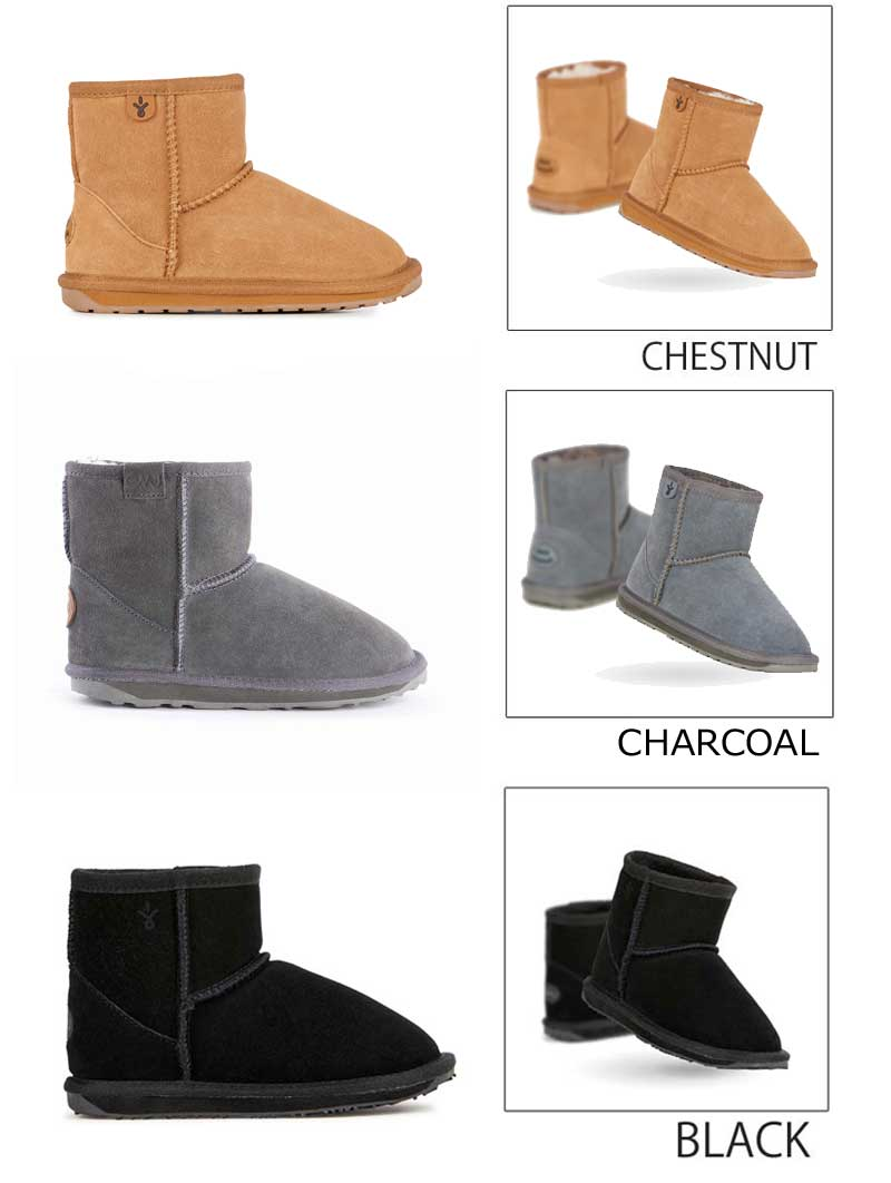 b5ccc083779 Boots suede cloth boots for the EMU kids sheepskin boots WALLABY MINI  wallaby mini-child